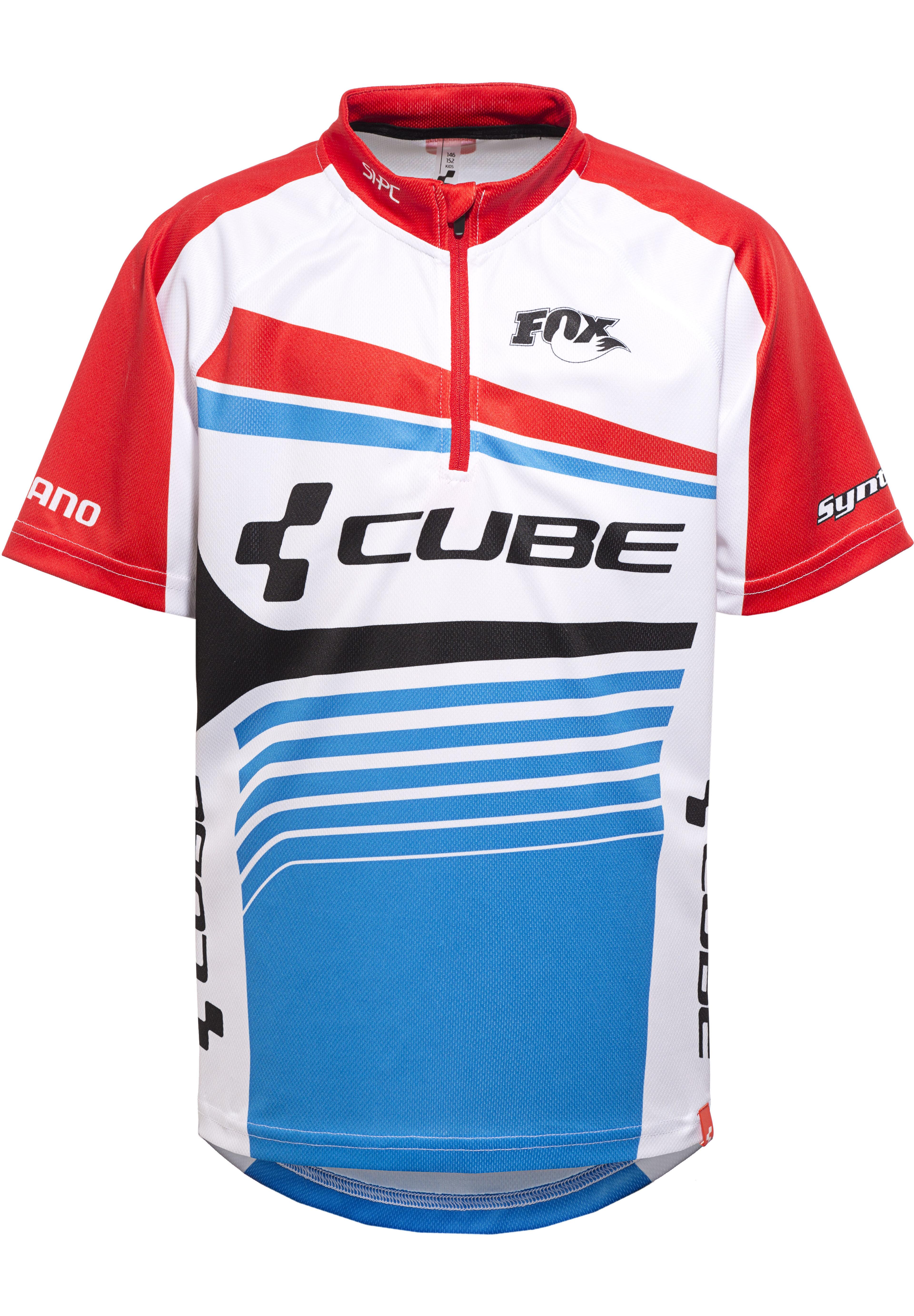 Cube Teamline Trikot kurzarm Juniors white\'n\'blue\'n\'red online ...